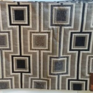 Port to Port Placemats Black, Tan, and Beige Block